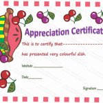 Colorful-Dish-Certificate-of-Appreciation-Template (Editable award certificates)