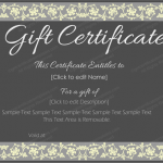 Editable-Black-Gift-Certificate (customizeable business gift certificate)