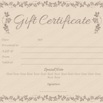 Flowery-Border-Gift-Certificate-Template (Create Gift Certificate)