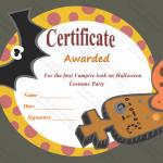 Halloween Award Certificate (Frightening , Blank Template)
