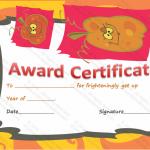Halloween Award Certificate (Funky Pumpkin , Printable Gift Voucher)