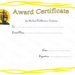 Halloween Award Certificate (Haunted House, Editable Gift Voucher)