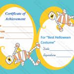 Halloween Award Certificate (Mummy , Printable and Editable)
