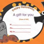 Halloween Gift Certificate Template (Halloween, travel voucher format in word)