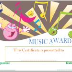Happy-Face-Music-Award-Certificate (Editable Certificate of Appreciation)