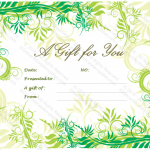 Holiday Gift Certificate Template (Festival, travel gift certificate)