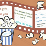 Holiday Gift Certificate Template (Movie, Editable Template in Word)