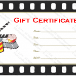 Holiday Gift Certificate Template (Movie Tickets,Printable and Editable)