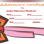Monthly Test Achievement-Certificate-Template(Editable Award Certificates for Students)