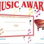 Music-Award-Certificate (Printable Award Certificate)