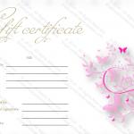 Pink-Butterfly-Motif-Gift-Certificate-Template