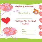 Printable Art and craft Award-Certificate