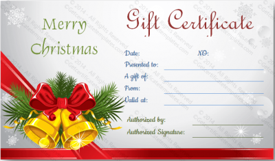 Christmas Gift Certificate Template Free.Christmas Gift Certificate Template Editable Printable