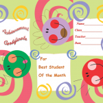 Student-of-the-Month Achievement Certificate (Editable Award Certificates)