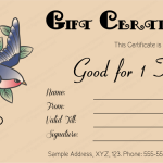 Tattoo-Gift-Certificate-Template (Editable Business Gift Certificate)