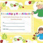 Thank You Gift Certificate Template (Friendship, Printable and Editable)