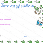 Thank You Gift Certificate Template (Gratitude, Blank Template)