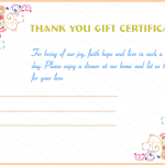 Thank You Gift Certificate Template (Special Day, Gift Voucher Template)
