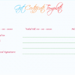 Wedding Gift Certificate (Mint, Customize in Word)