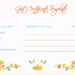 Wedding Gift Certificate (Peach, Printable Gift Voucher)