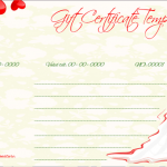 Wedding Gift Certificate (Red, Printable and Editable)