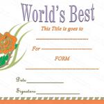 Worlds-Best-Title-Award-Certificate (Award Certificate Format)