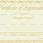 Certificate of Appreciation Template (Autumn, Blank Certificate)