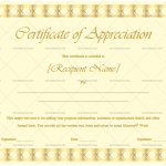 Certificate of Appreciation Template (Blocks, Printable Blank Certificate)