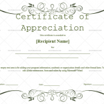Certificate of Appreciation Template (Green, Printable and Editable)