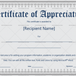 Certificate of Appreciation Template (Grey & Black, Printable and Editable)