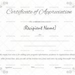 Certificate of Appreciation Template (Grey, Editable Certificate)