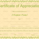 Certificate of Appreciation Template (Peach, Printable Blank Certificate)