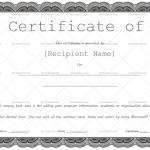 Certificate of Appreciation Template (Pencil Black, Customize in Word)