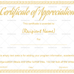 Certificate of Appreciation Template (Pretty, Printable and Editable)