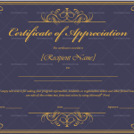 Certificate of Appreciation Template (Royal, Blank Design)