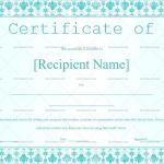 Certificate of Appreciation Template (Sky Blue, Blank Award Certificate)