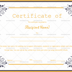 Certificate of Appreciation Template (White, Customize in Word)