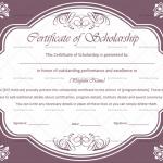 Certificate of Scholarship Temlate (Beautiful, Fillable Template)