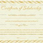 Certificate of Scholarship Template (Autumn, Editable Certificate)