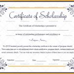 Certificate of Scholarship Template (Elegant, Customize in Word)