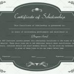 Certificate of Scholarship Template (Grey, Printable in Word)