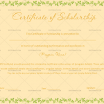 Certificate of Scholarship Template (Peach, Printable and Editable)