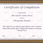 Completion Certificate (Border, Course completion certificate)