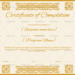 Completion Certificate (Peach, Work completion certificate)
