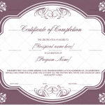 Completion Certificate (Purple, Printable completion certificate)