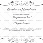 Completion Certificate (Silver, Printable Blank Certificate)
