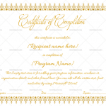 Completion Certificate Template (Dust, Blank Design)