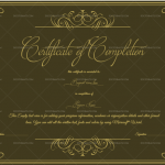 Completion Certificate Template (Elegant, Certificate of completion construction)