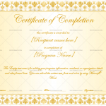 Completion Certificate Template  (Floral, Fillable Template)