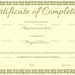 Completion Certificate Template (Jade Green, Internship completion certificate)